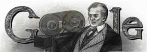 Il doodle dedicato al regista.